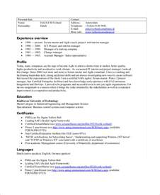 Sle Resume With Masters Degree by Master Resume Template Resume Templates And Resume Builder