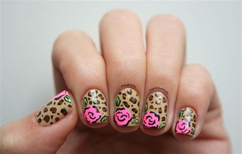 rose pattern nails polish pals leopard rose nails tutorial