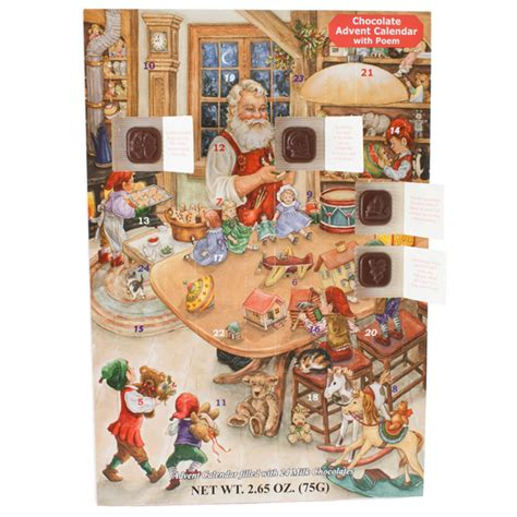 Chocolate Calendar Santa S Or Chocolate Advent Calendar