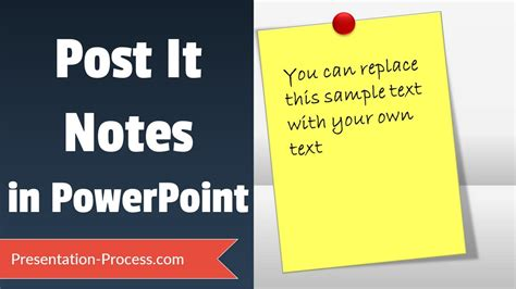 Post It Notes Tutorial In Powerpoint Youtube Editable Post It Note Template
