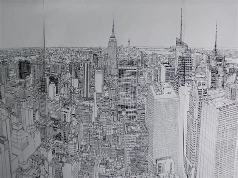 Sketches New York by Mesmerizing Time Lapse Of An Artist Drawing The New York