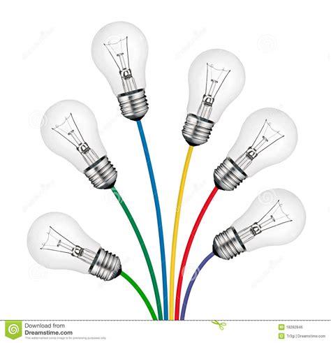 ideas nuevas nuevas ideas brillantes ramo de lighbulbs y de cables