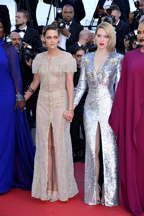 lea seydoux and kristen stewart kristen stewart bids adieu to 2018 cannes film festival in