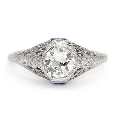 vintage sapphire engagement ring deco