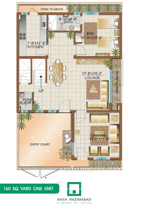 160 yard home design naya nazimabad housing city karachi bunglows floor plans