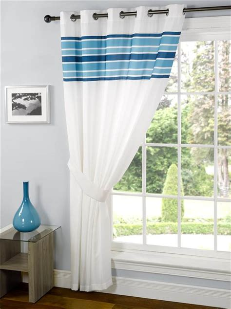 brown patterned eyelet curtains royale striped eyelet unlined voile curtain panel
