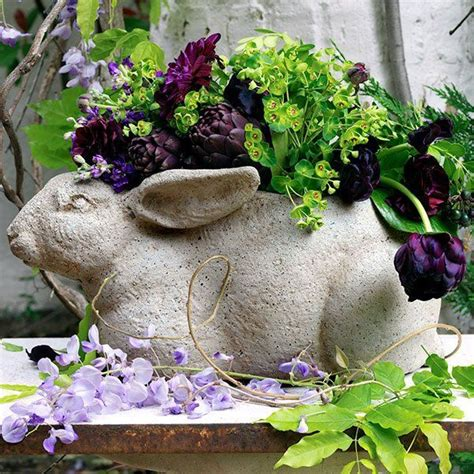 Rabbit Planter rabbit planter green thumb