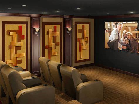 home theater design concepts decorative acoustic panels home theater acoustic wall art