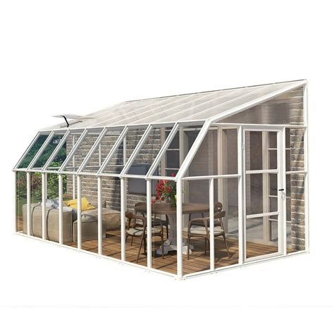 greenhouse sunroom rion sun room 8 ft x 16 ft clear greenhouse 702135 the