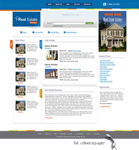 Free Real Estate Templates Free Real Estate Website Templates Real Estate Website Templates Free