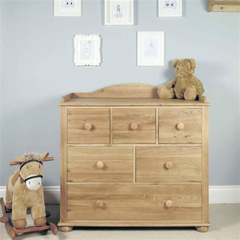 Little Acorn Oak Baby Changing Table Chest Of Drawers By Baby Changing Tables With Drawers