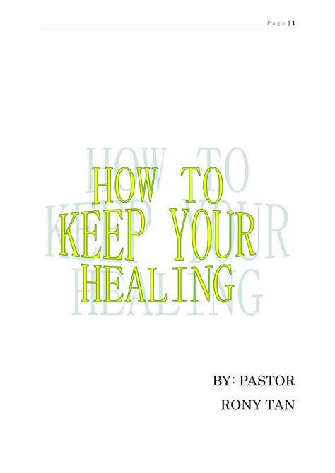 how to your to heal how to keep your healing