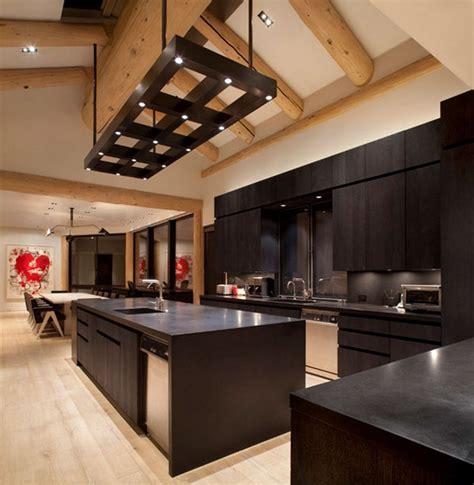 Rachel Ashwell by Well Suited Design Dark Wood Modern Kitchen Cabinets