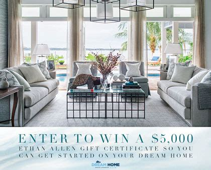 Ethan Allen Sweepstakes Winner - win 5 000 ethan allen shopping spree go sling