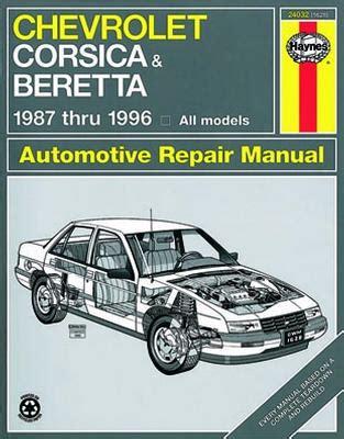 chevrolet corsica and beretta haynes repair manual 1987 1996 hay24032
