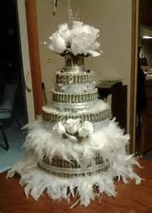 Money cake bridal shower gift i made for my daughtershhhh money
