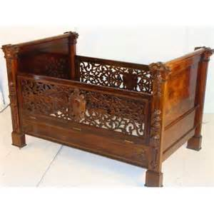 Vintage Cribs For Sale antique rosewood baby crib by roux for