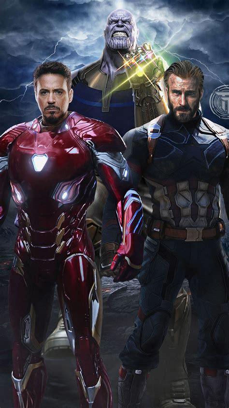 1080x1920 infinity war captain america iron
