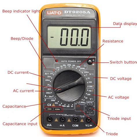 testing capacitors with a voltmeter other electrical test equipment dt9205a digital multimeter voltmeter ohmmeter ac dc ammeter