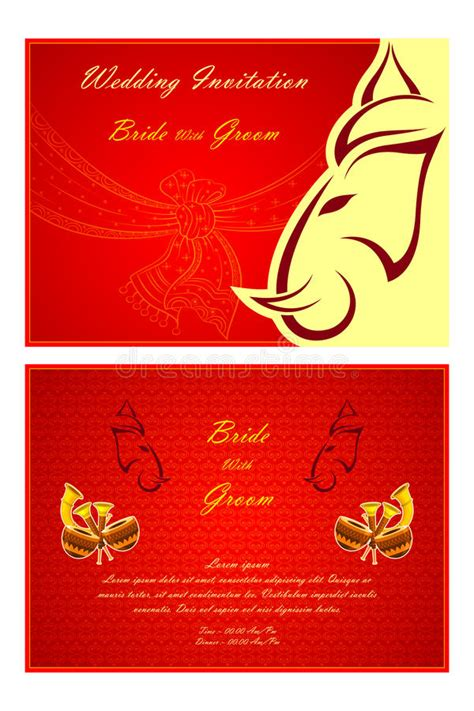 Indian Wedding Invitation Cards Vector Free by Indian Wedding Invitation Card Stock Vector Image 48582516