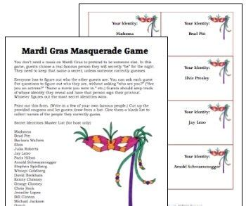adult masquerade party games mardi gras mardi gras and on