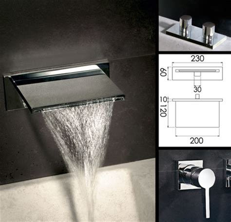 waterfall bath taps with shower waterblade waterfall bath tap livinghouse