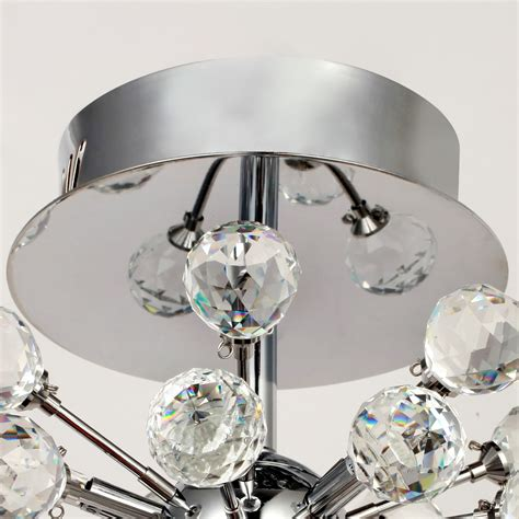crystal flush mount light fixture modern crystal chandelier ceiling light flush mount chrome
