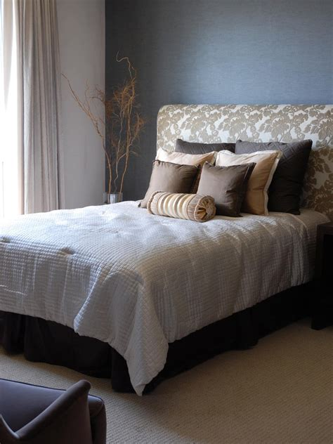 bed with headboard how to make an upholstered headboard hgtv