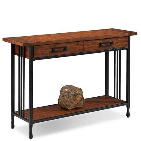 Oak Sofa Table by Matte Black 2 Drawer Burnished Mission Quot Oak Sofa Table