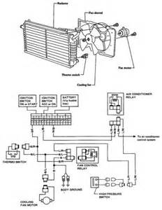 nissan stanza violet electric cooling fan schematic and circuit diagram