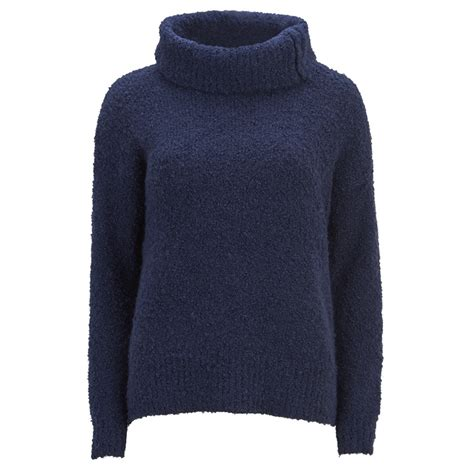 Anthony Navy Sweater Rajut Gk great plains s boucle roll neck jumper true navy free uk delivery 163 50