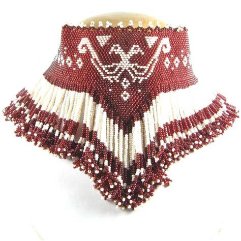 Beaded Eagle Choker crafts wholesale maroon eagle