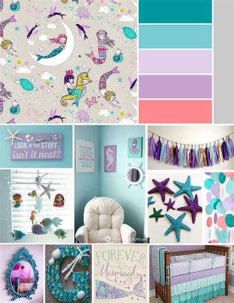 Ocean Themed Bathroom Ideas baby girl bannon nursery inspiration mermaid nautical