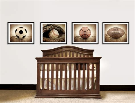 Vintage Sports Nursery Decor Traditional Home Decor Sports Nursery Decor