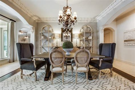 soft gray dining room  french country charm hgtv