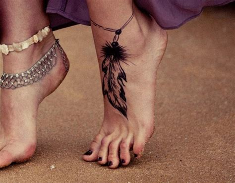awesome foot tattoo designs feather tattoos page 58