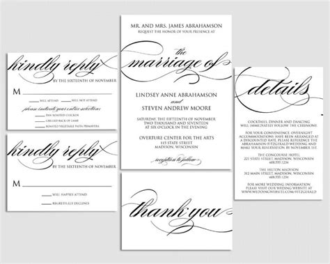 Pages Wedding Invitation Template by Wedding Invitation Printable Wedding Invite Formal