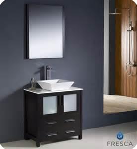 Picture of fresca torino 30 quot espresso modern bathroom vanity w vessel