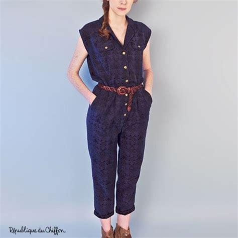 pattern jumpsuits sewing pattern r 233 publique du chiffon jumpsuit dominique