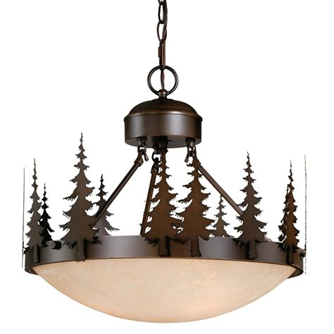 Rustic Cabin Lighting Fixtures Big Sky Semi Flush Ceiling Light 18 Inch