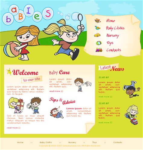 gallery kids menu template