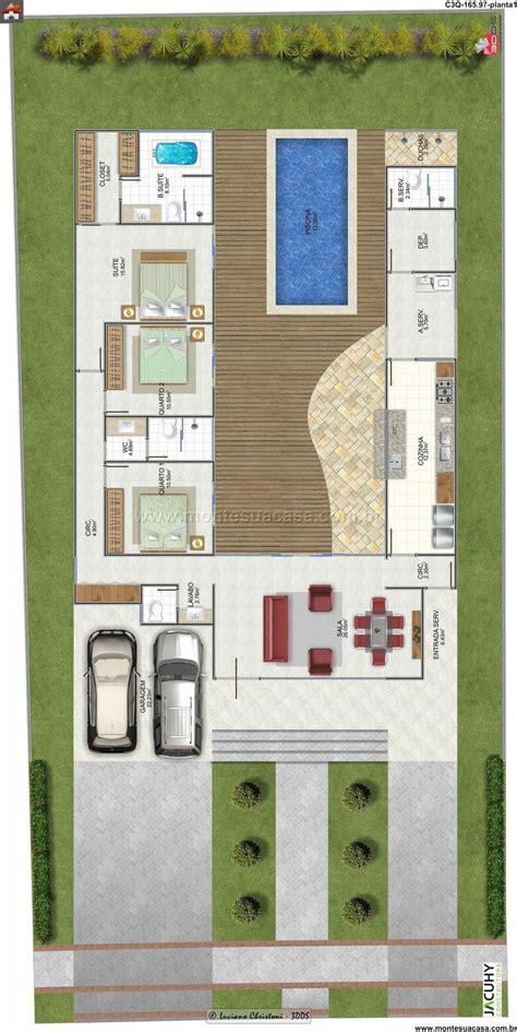 plantas de casa planta de casa 3 quartos 165 97m 178 monte sua casa casas chang e 3 and