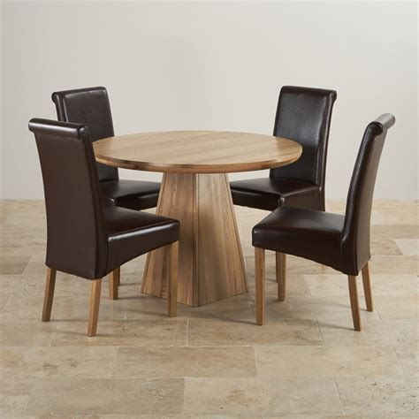 Solid Oak Dining Table Set Provence Solid Oak 3ft 7 Quot Dining Table With 4 Brown Chairs