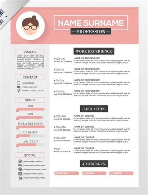 Resume Template Designs You Can Download And Edit For Free Free Illustrator Resume Templates