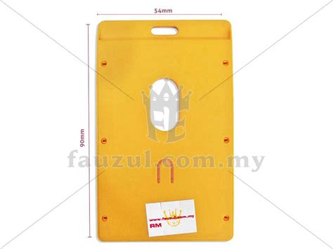 Id Card Holder 54 X 90 Mm Potrait Lanyard Bantex 8865 64 Mango cbe id card holder 54x90mm 3311 fauzul enterprise