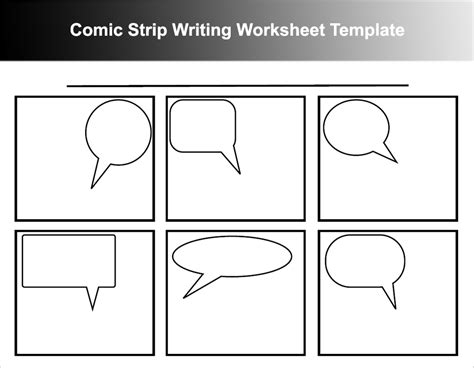 free comic templates comic template the letter sle