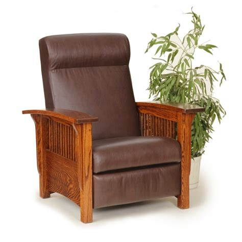 mission recliner chairs mission chair amish mission recliner country lane