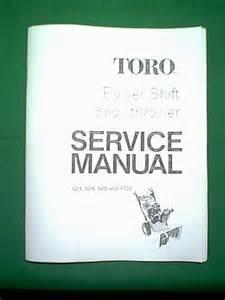 toro power shift snowthrower snowblower models 624 824