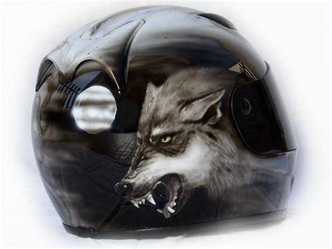 beauty   wolf airbrush designs  marushin helmet