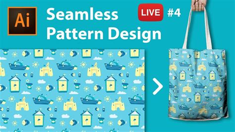 pattern making illustrator cc pattern design with adobe illustrator cc live stream 4